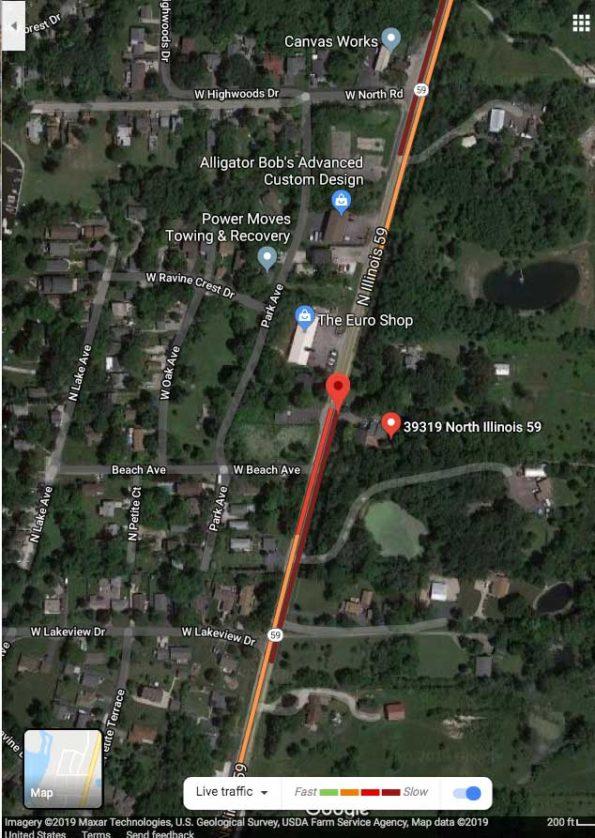 Crash Map Lake Villa December 19 2019 at 6:54 PM