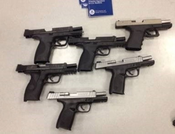 Handguns discovered at O'Hare (SOURCE: U.S Attorney's Office, North District Office)