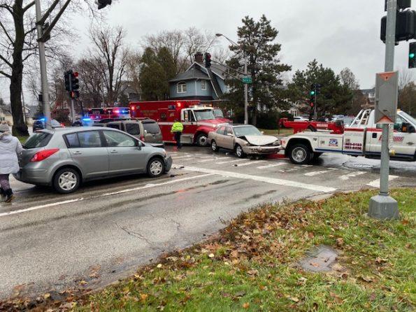 3-vehicle crash at Arlington Heights Rd and Euclid Ave Arlington Heights.