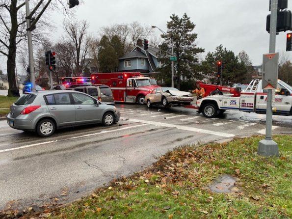 3-vehicle crash at Arlington Heights Rd and Euclid Ave Arlington Heights