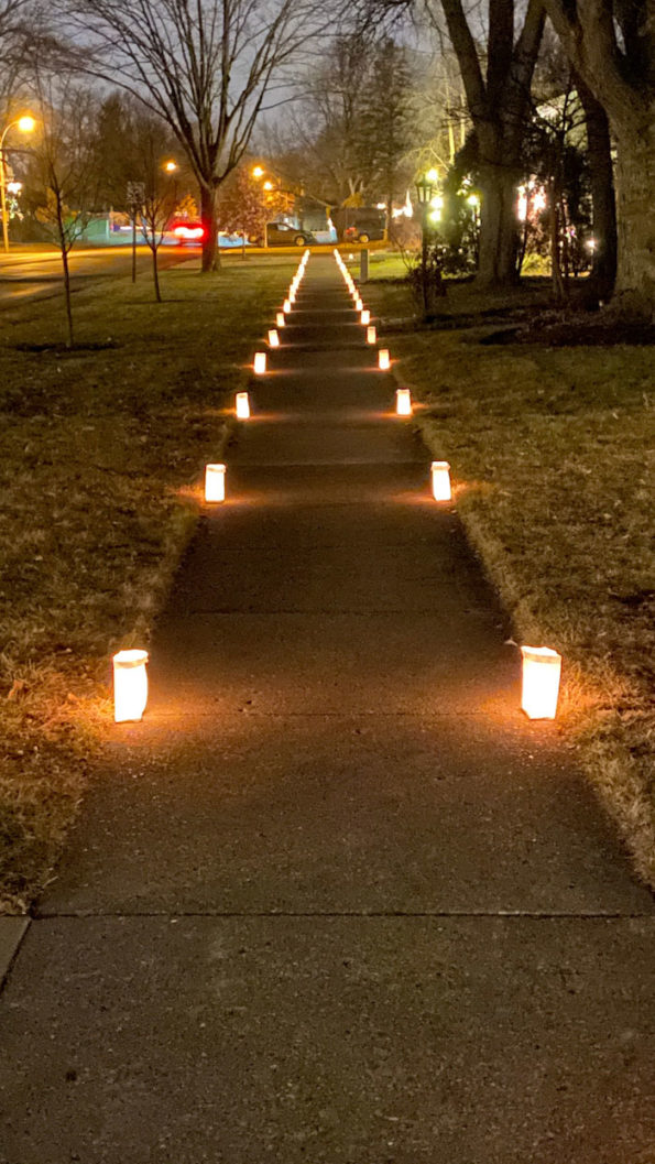 Luminaria Dryden looking North on December 23, 2019