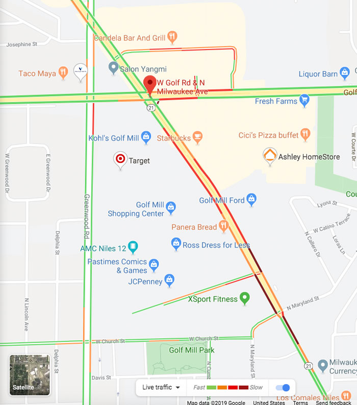 Niles Map Vehicle vs Pedestrian December 29, 2019
