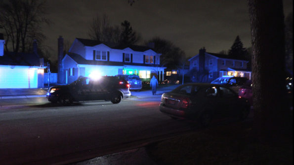 Police activity on St James St. east of Prindle Ave., Arlington Heights