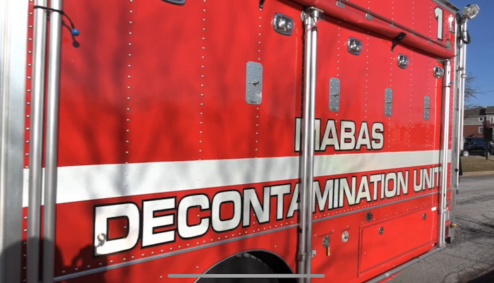 Arlington Heights Fire Department De-Con Unit at the Daily Herald headquarters