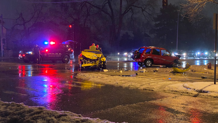 Head-on crash at Arlington Heights Road and Hintz Road