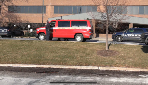 Arlington Heights fire department incident command at the Daily Herald headquarters
