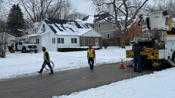 ComEd Wires Down, crews working in Arlington Heights