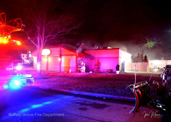 Fire scene at Dengeos Sunday January 5, 2020 (SOURCE: BGFD/J Kleeman)