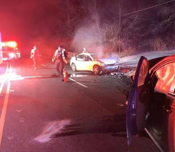 Head-on Cannabis DUI crash on Route 53 in Lisle, Illinois