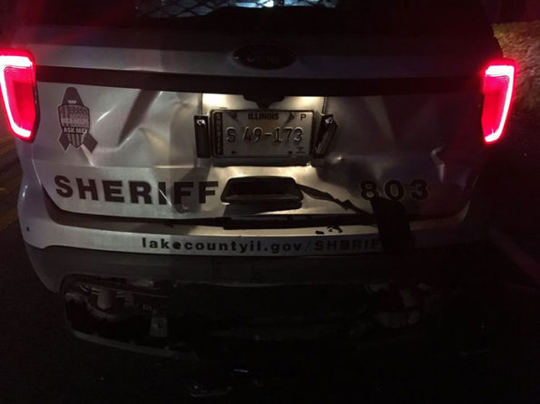 Rear-ended Lake County Sheriff Deputy's police SUV in DUI crash