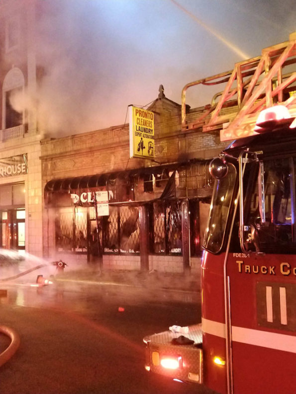 211 Alarm Fire in Chicago at Pronto Cleaners on Michigan Avenue near Cermak Road (SOURCE: Chicago Fire Department)
