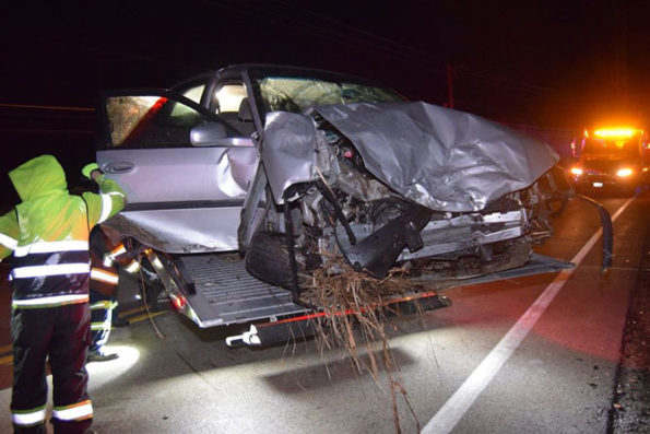 Lake County Sheriff's deputy involved in head-on crash with DUI driver's Chevy Impala on tow (SOURCE: Lake County Sheriff's Office)
