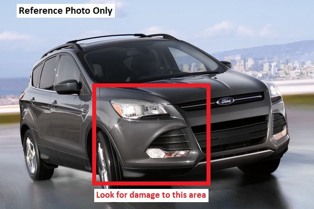 "Ford Focus with an ""SEL"" or Titanium"" trim package (front-end damage zone) reference photo for hit-and-run in Deerfield, Illinois"