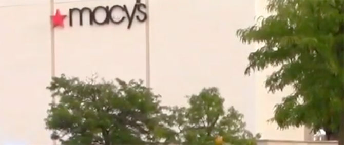 Macy's Woodfield at Woodfield Mall Summer of 2019