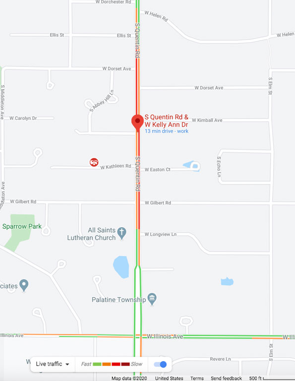 Vehice Pedestrian Incident scene map Friday, February 21, 2020