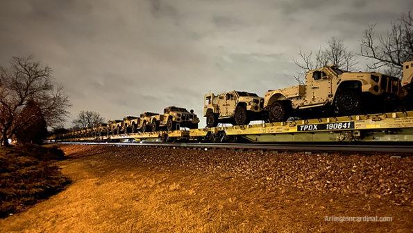 Oshkosh Defense Joint Light Tactical Vehicle (JLTV) or Light Combat Tactical All-Terrain Vehicle and JLTV Utility (UTL) military vehicles Arlington Heights