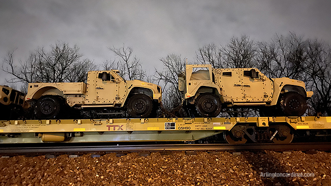 Oshkosh Defense Joint Light Tactical Vehicle (JLTV) or Light Combat Tactical All-Terrain Vehicle and JLTV Utility (UTL) military vehicles Arlington Heights