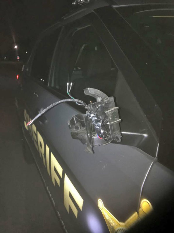 Lake County Squad hit by SUI driver while on another DUI traffic stop (SOURCE: Lake County Sheriff's Office).