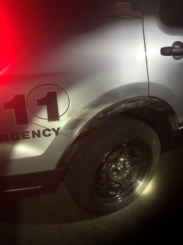 Lake County Squad hit by SUI driver while on another DUI traffic stop (SOURCE: Lake County Sheriff's Office)