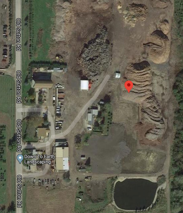 Extra Alarm Mulch Fire map Old Sutton Road Barrington Township