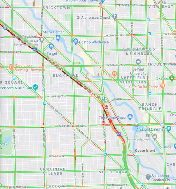 Crash map I-90 and North Ave Wednesday, April 15, 2020