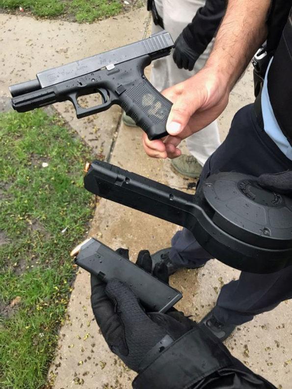 Handgun with 50-round drum (SOURCE: Lake County Sheriff's Office)