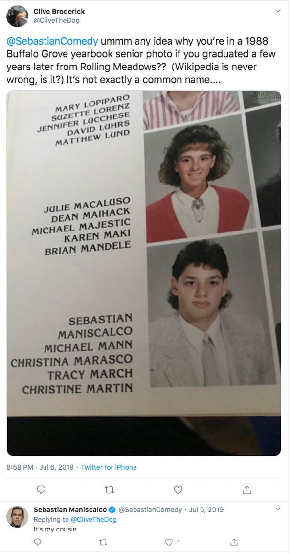 Sebastian Maniscalco: He's my cousin