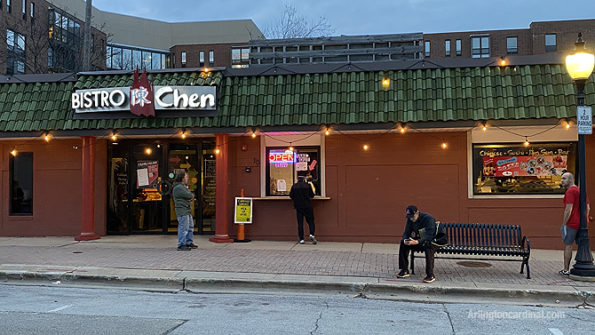 Bistro Chen curbside pickup in Arlington Heights