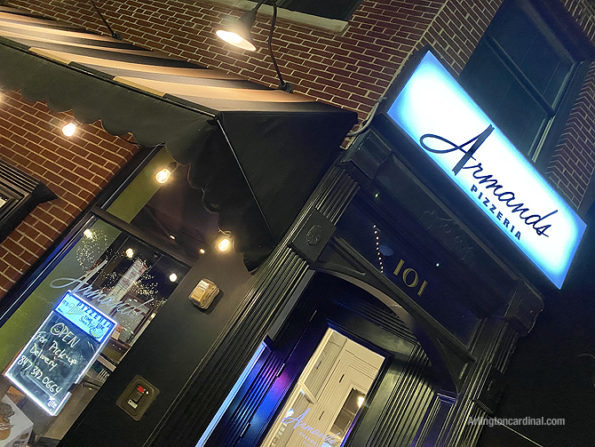 Armand's Pizzeria curbside pickup Arlington Heights on Friday, April 3, 2020