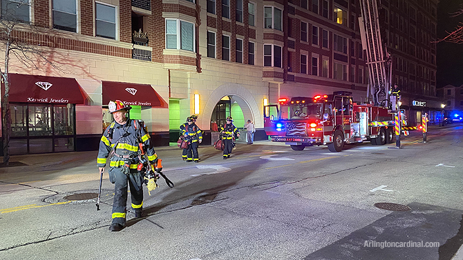 Arlington Heights firefighters investigating smoke in at Arlington Town Square high-rise