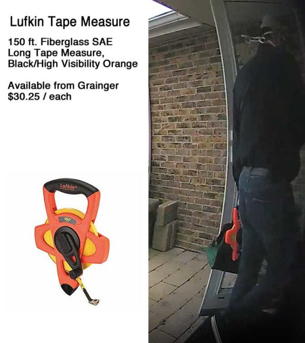 Offender with Crescent Lufkin 150ft tape measure