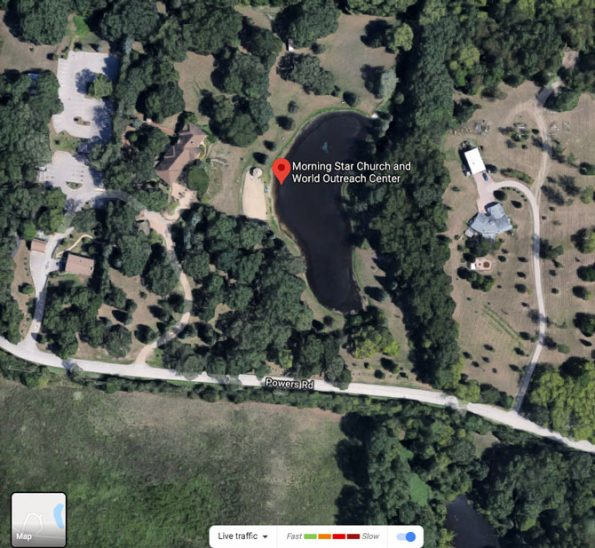 Crash scene map near Morning Star Church on Powers Road in Huntley