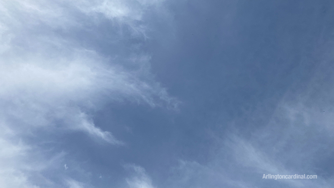 Sky condition and clouds 2:10 PM Thursday May 7, 2020