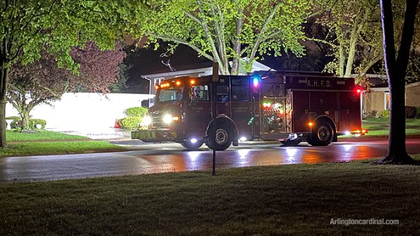 Fire Engine 2's crew responding to assist a household with sump pump problem