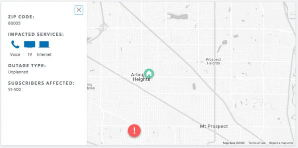 Comcast XFINITY Outage Map Friday May 29, 2020