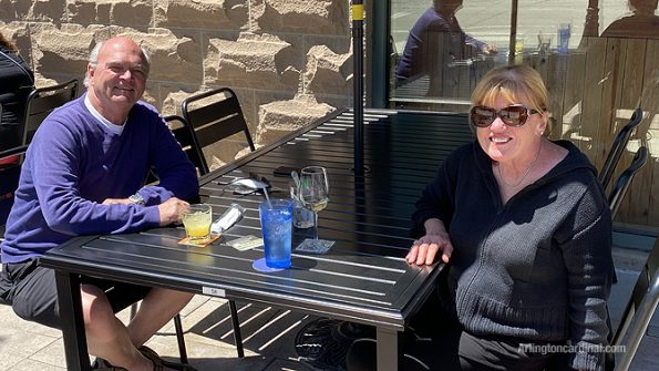 While spending time with two diners enjoying a beautiful afternoon at Peggy Kinnane's, owner Derek Hanley said on Sunday that all downtown restaurants are excited to open Arlington Alfresco