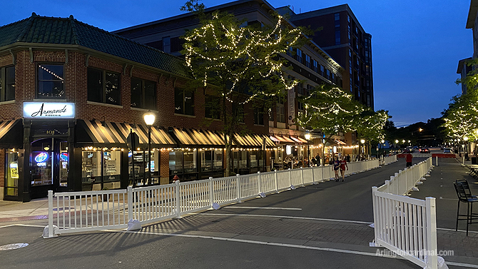 Campbell Street open for pedestrians at Arlington Alfresco beginning Wednesday June 3, 2020 through Labor Day Weekend