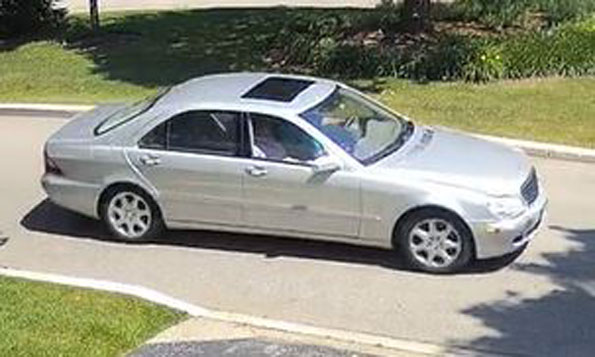 Lake Forest burglary suspect's car