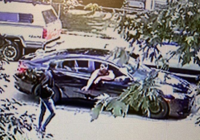 Shootout security camera image