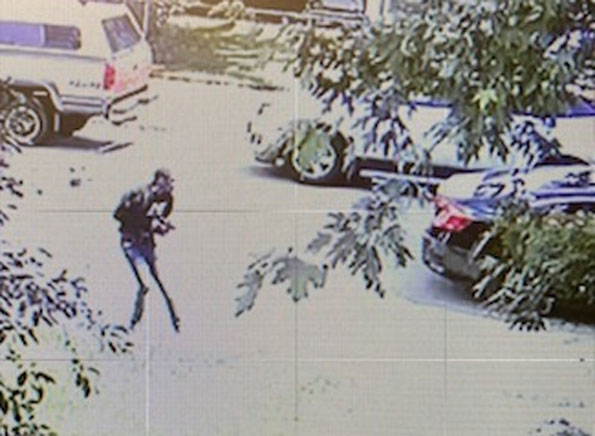 Shootout security camera image in Zion