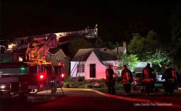 Lake Zurich house fire on Sunday July 12, 2020