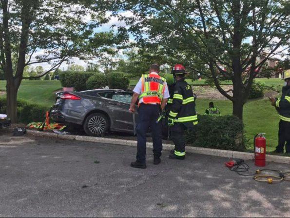 Car vs Tree crash 1100 South Rand Road Lake Zurich