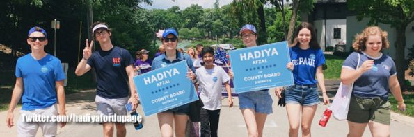 Hadiya Afzal, Hadiya for Dupage candidacy Twitter account