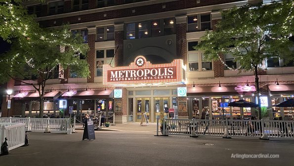 New Metropolis marquee on Campbell Street in Arlington Heights