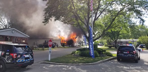 Mobile home fire in on Broughman Drive Wheeling on Friday July 10, 2020