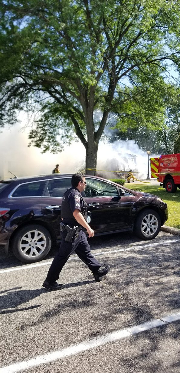Mobile home fire in Wheeling on Friday July 10, 2020