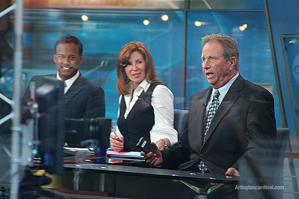 ABC 7 Chicago's Ravi Baichwal, Kathy Brock, and Jerry Taft (left to right/September 2009)