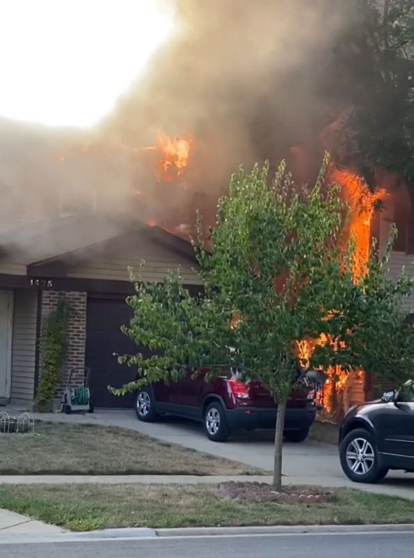 Duplex fire involving two buildings on Chippewa Trail in Wheeling (PHOTO CREDIT: neighbors photo)