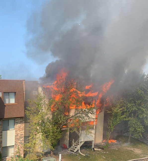 Glendale Heights Water's Edge Condo building fire