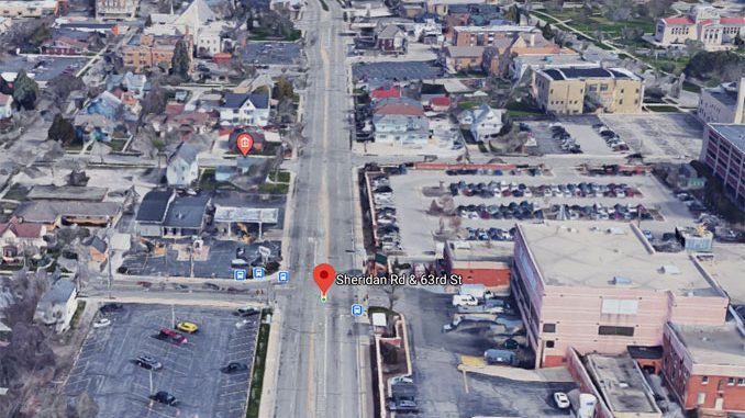 Sheridan Road and 63rd Street Kenosha AerialView (©2020 Google Maps)